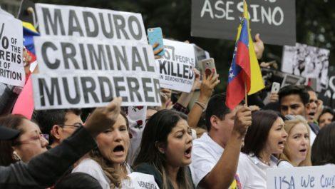 Venezolanos protestan en la ONU