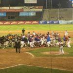 El juego Caracas La Guaira terminó en tángana