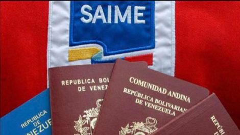 Saime reprograma citas de pasaporte y prórrogas «hasta nuevo aviso»