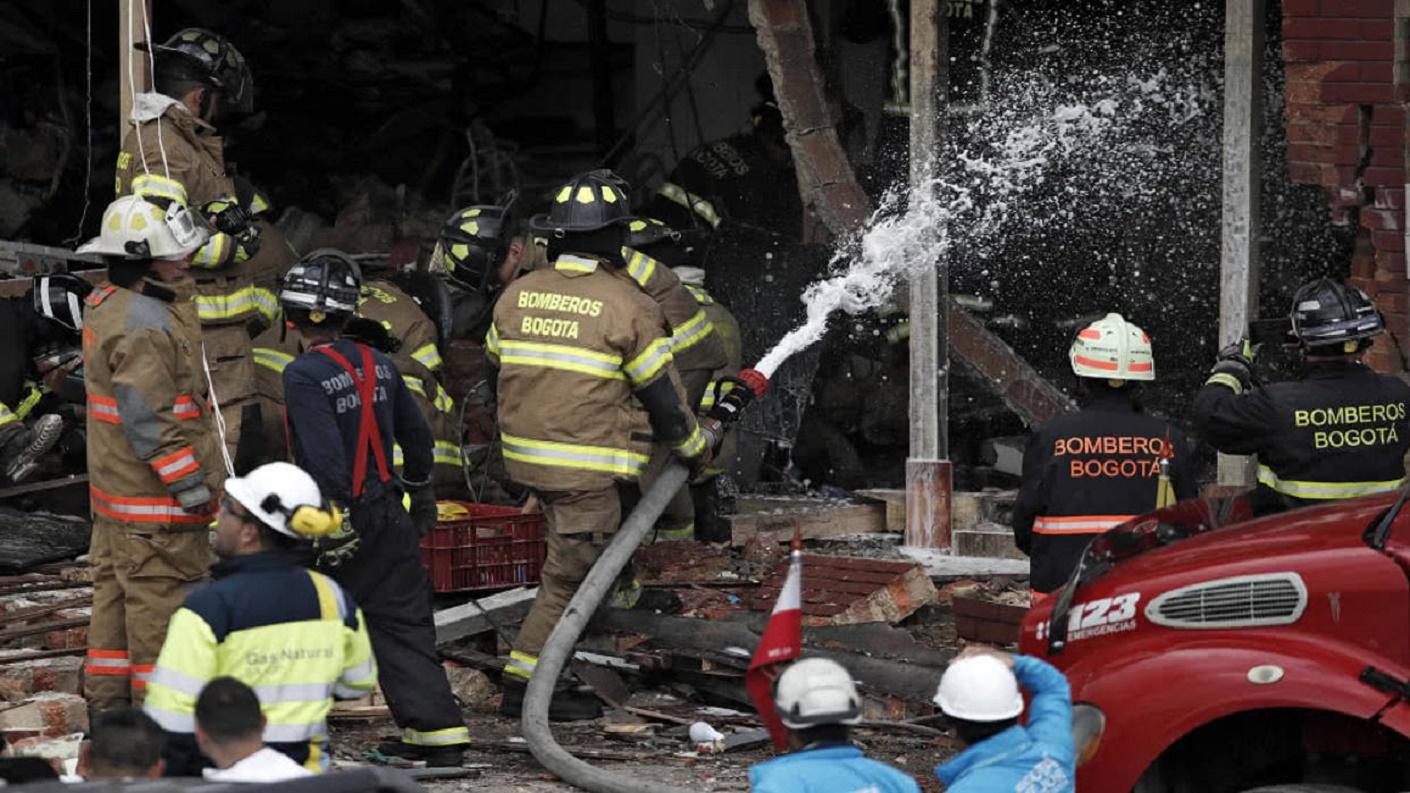 Cuatro personas murieron por explosión de una fábrica en Colombia