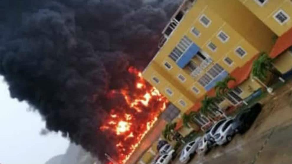 Foto incendio Guanta- localidad de Chaure