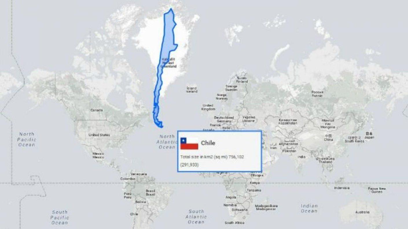Usuario en Reddit descubre que Chile podría unir a EEUU con