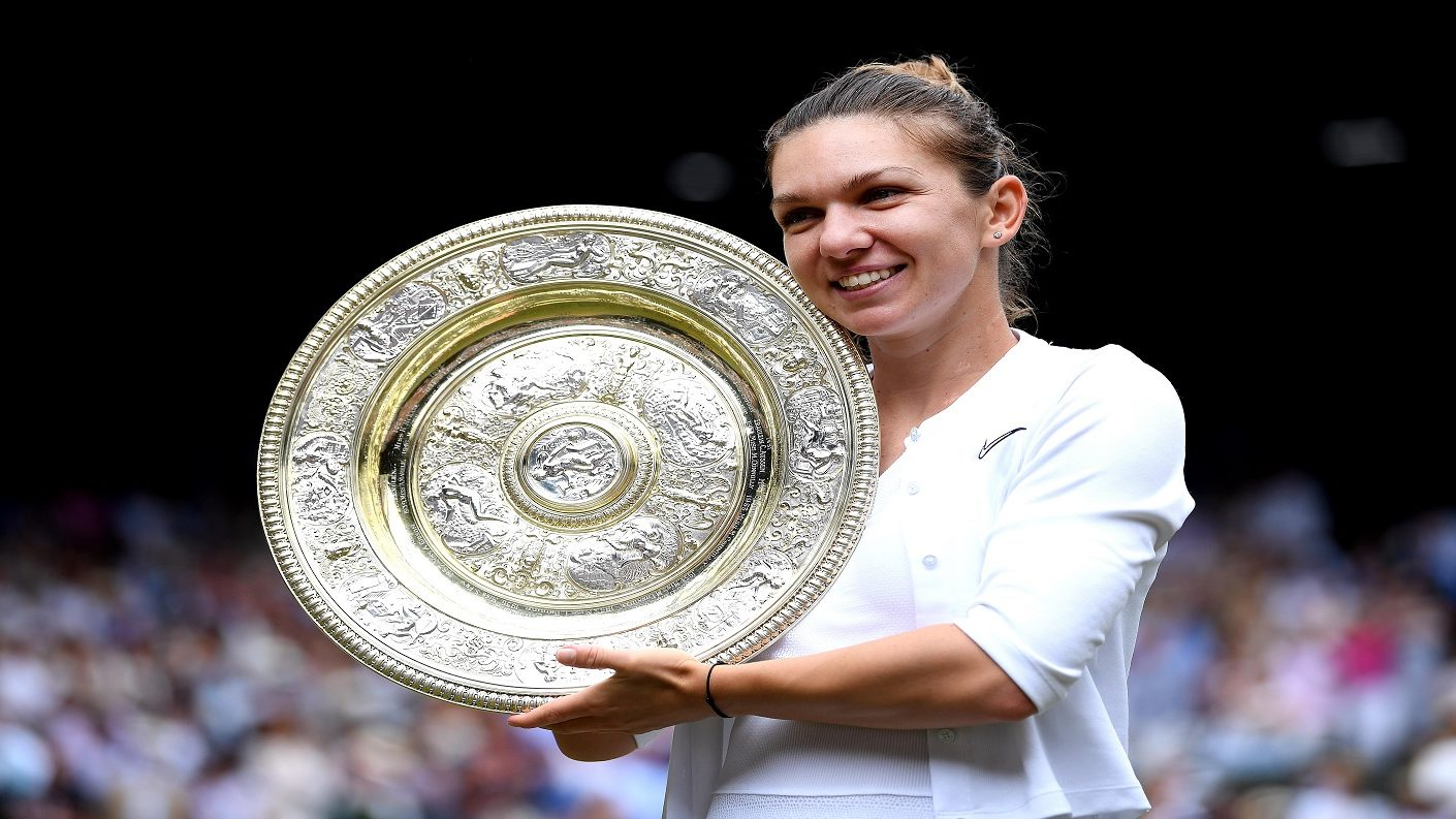 Simona Halep reina por primera vez en Wimbledon