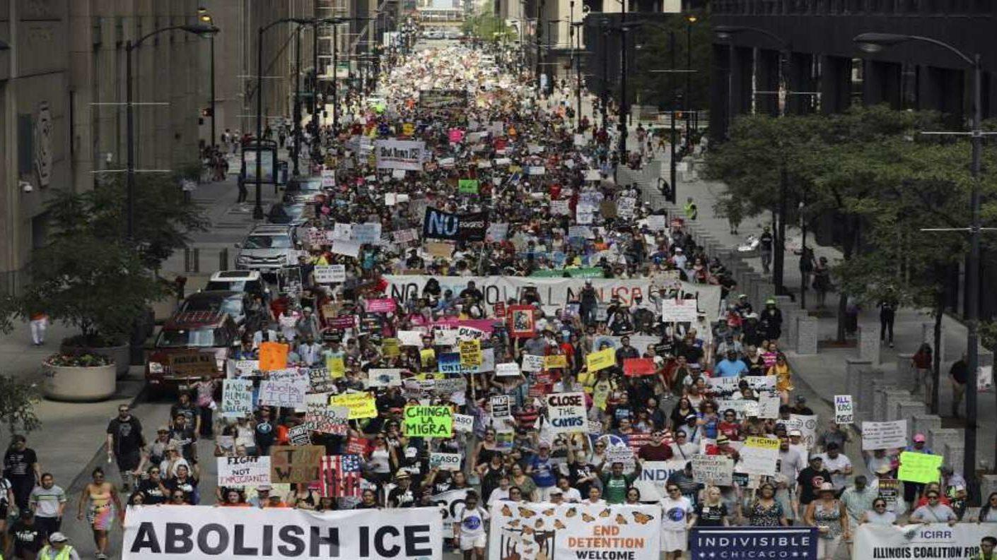 Manifestación en Chicago anti redadas