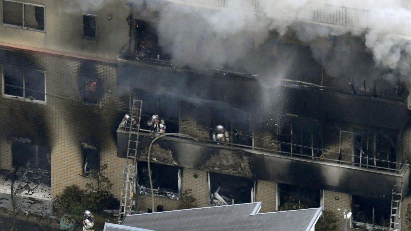 Al menos 33 personas murieron en incendio provocado en Kyoto, Japón