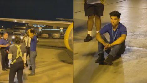 Cubano llegó a Miami escondido en la zona de carga de un avión