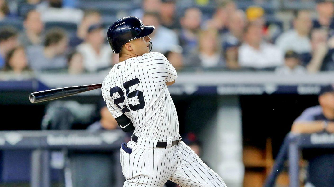Gleyber Torres inspirado en victoria de los Yankees
