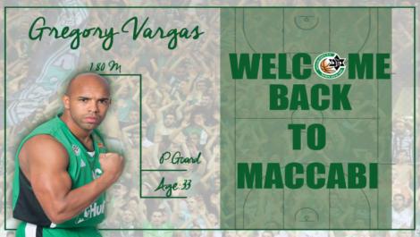 Gregory Vargas regresa al baloncesto Israelí con el Maccabi Haifa