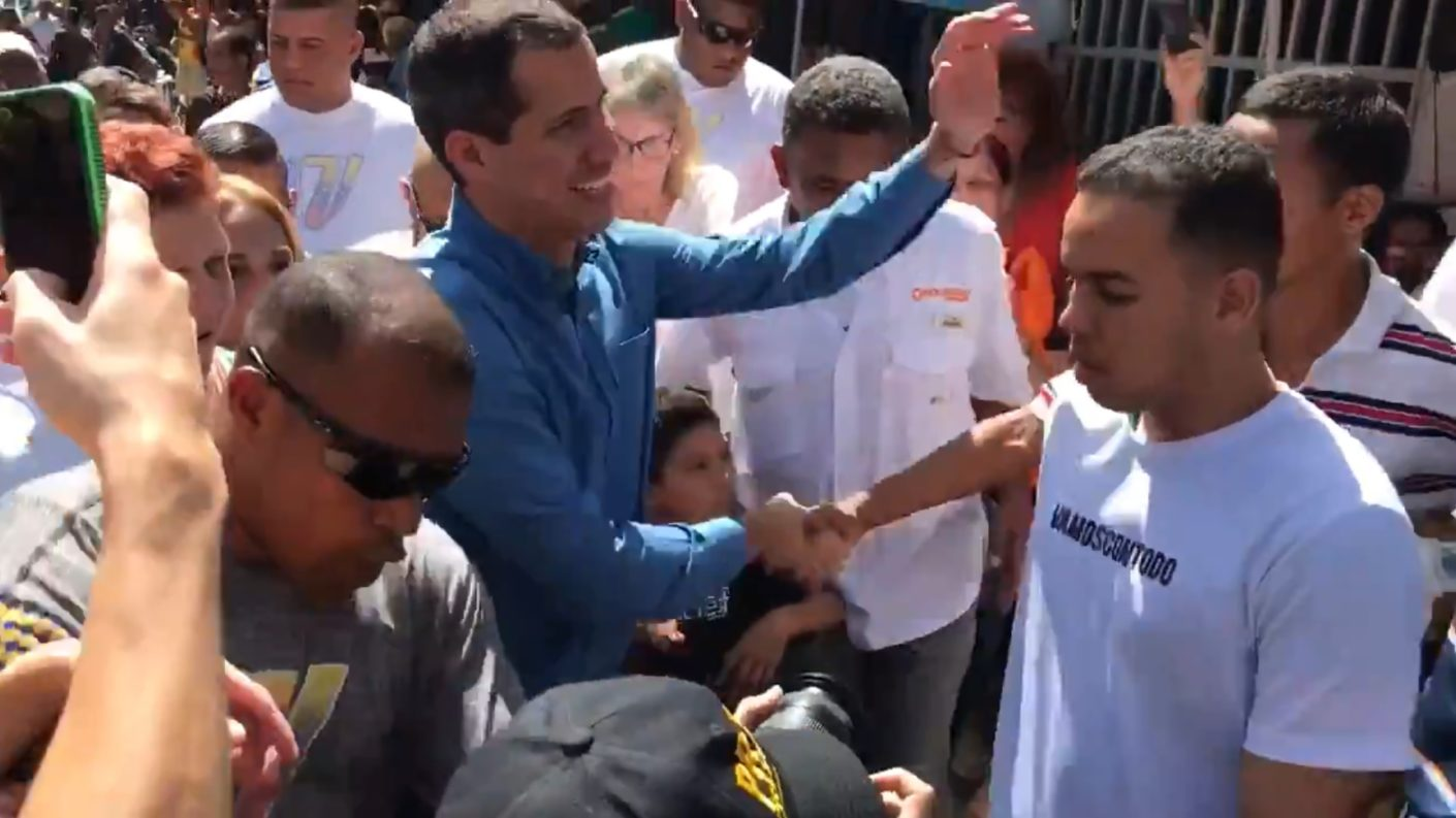 Guaidó en Guárico pide que se continúe con la protesta ciudadana