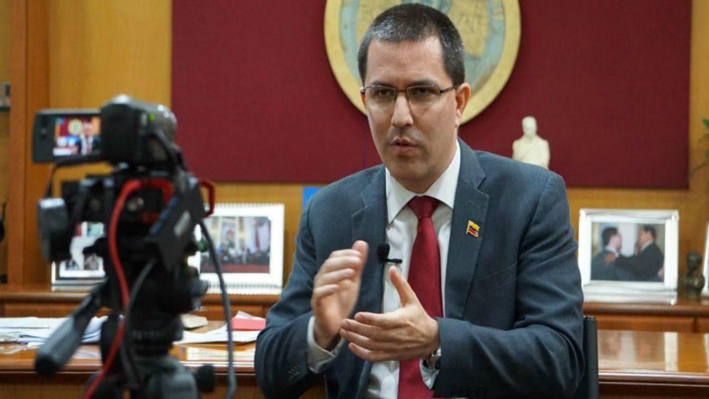 Arreaza afirma que hay pruebas de espionaje de EEUU en Venezuela