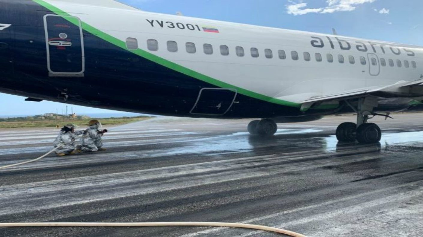Aeronave marca Boeing se accidentó en la pista del aeropuerto de Maiquetía