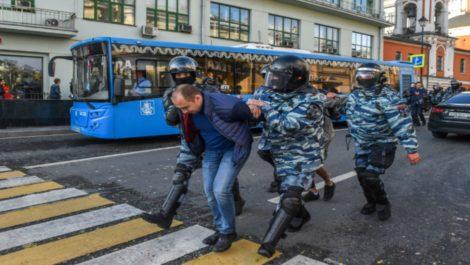 Moscú: Más de un centenar de personas detenidas en protesta récord