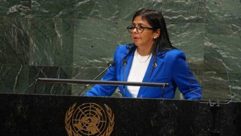 Rodríguez denuncia en la ONU  «agresión armada» de EEUU y Colombia contra Venezuela