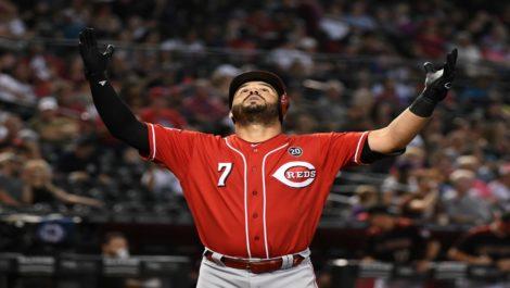 Suárez rompió récord de Galarraga como el más jonronero de MLB