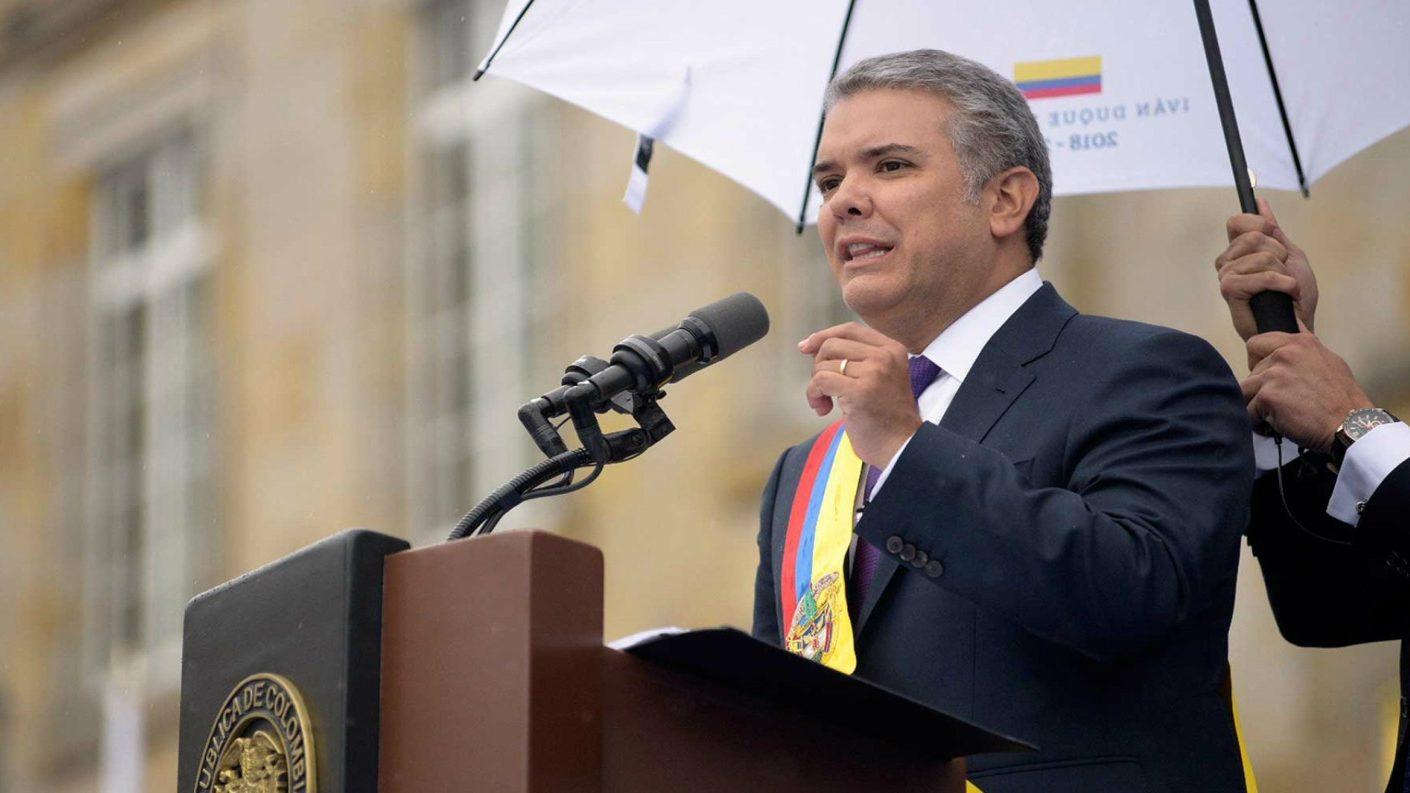 Iván Duque a Maduro: «En vez de gastar en misiles debería comprar comida»