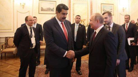 Putin saluda a Maduro y reafirma relaciones bilaterales Caracas-Moscú