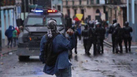 Recrudecieron protestas y Moreno declaró toque de queda total