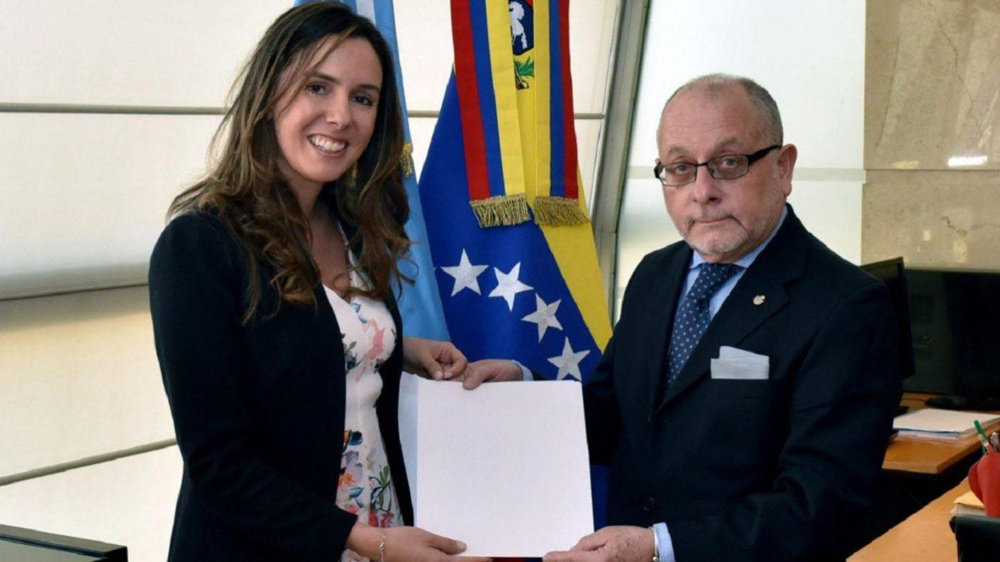 Embajadora de Guaidó agradeció apoyo de Macri