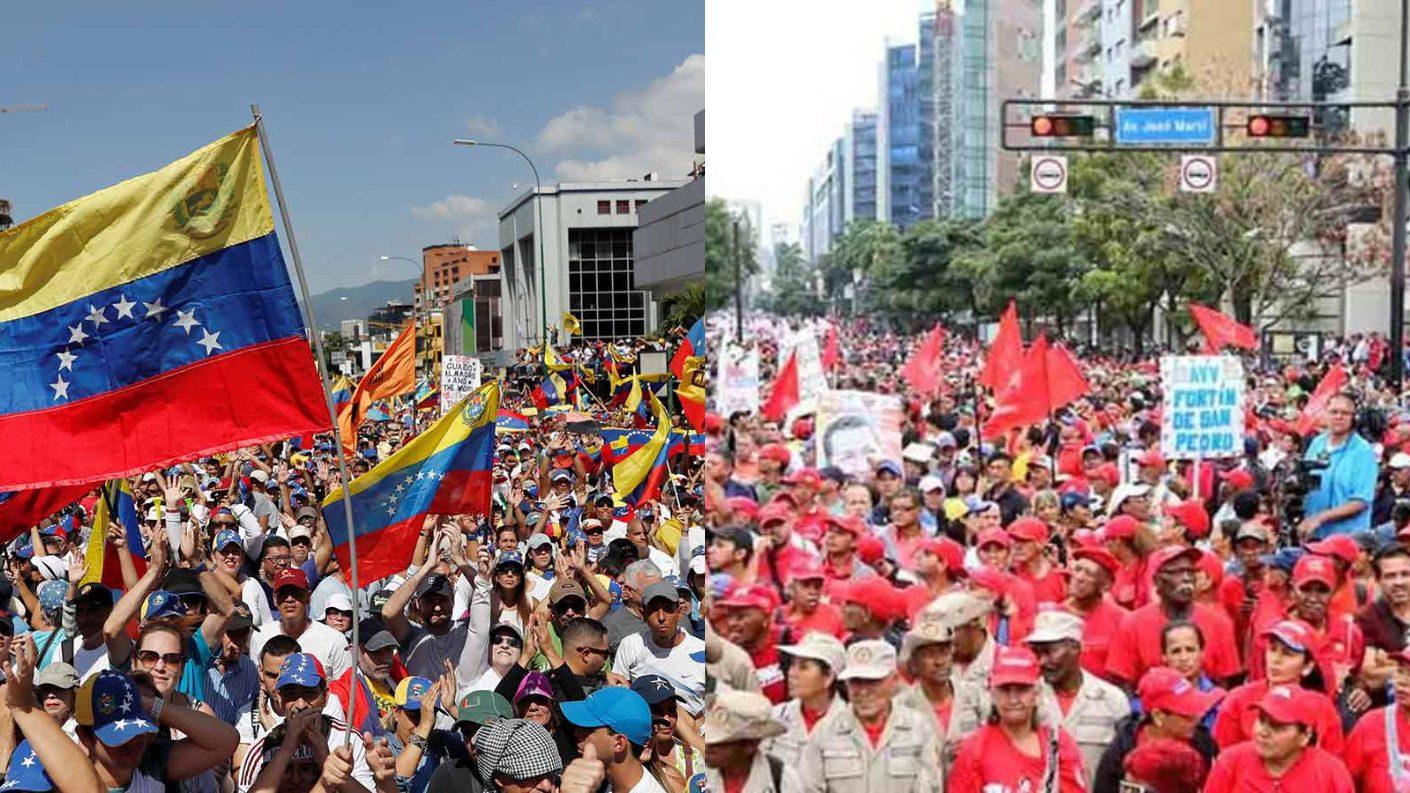 Calles de Caracas y Zulia serán tomadas por la oposición y el chavismo