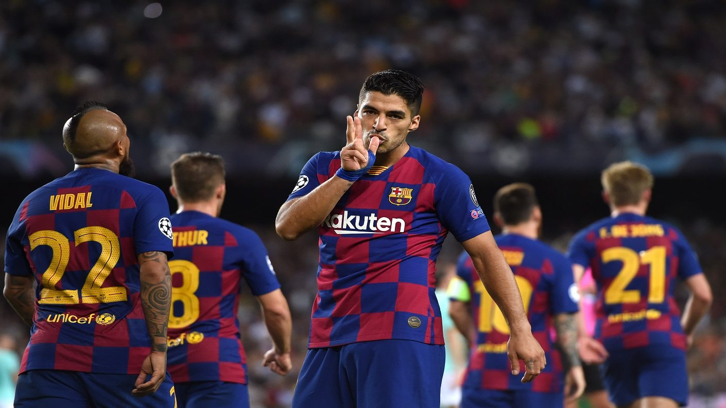 Con doblete de Suárez el Barcelona le remontó al Inter