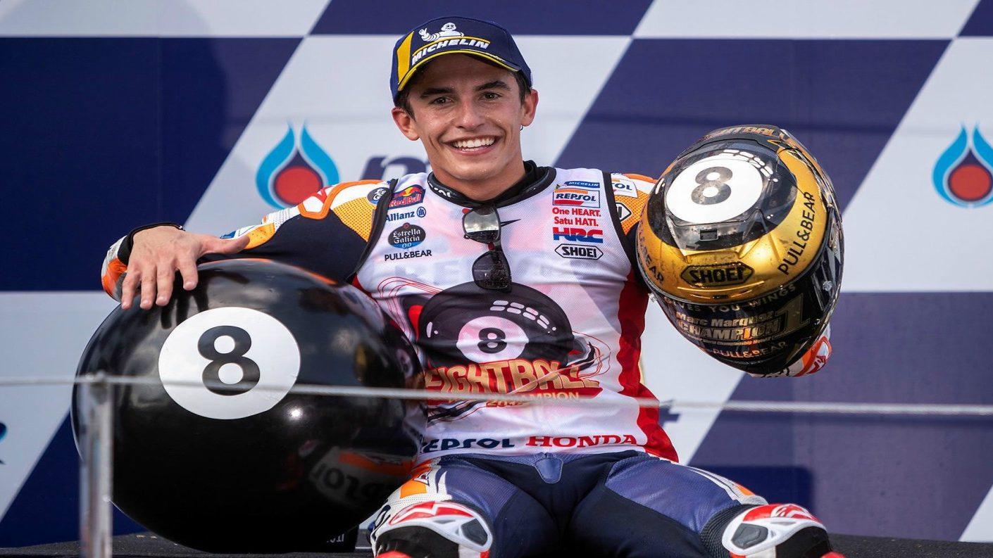 Marc Márquez conquistó su octavo título mundial