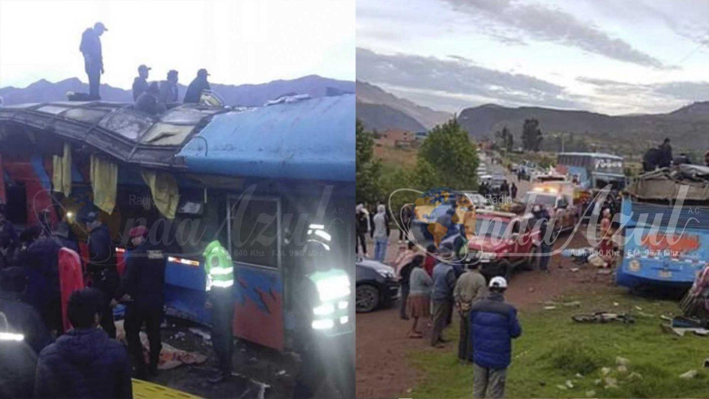 Seis niños murieron en accidente de autobús en Perú