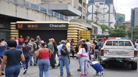 Desde Palo Verde hasta Sabana grande el Metro de Caracas no presta servicio comercial