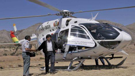 En vídeo: Helicóptero donde viajaba Evo Morales sufrió falla mecánica