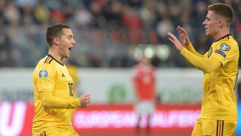 Bélgica goleó a Rusia por la clasificación a la Eurocopa 2020