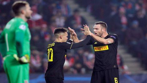 Inter goleó al Slavia Praga en República Checa