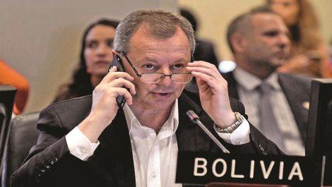 Embajador de Bolivia renuncia a su cargo ante la OEA