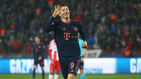 Lewandowski igualó récord de Messi