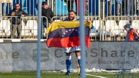 Jhon Chancellor celebró su primer gol con el Brescia
