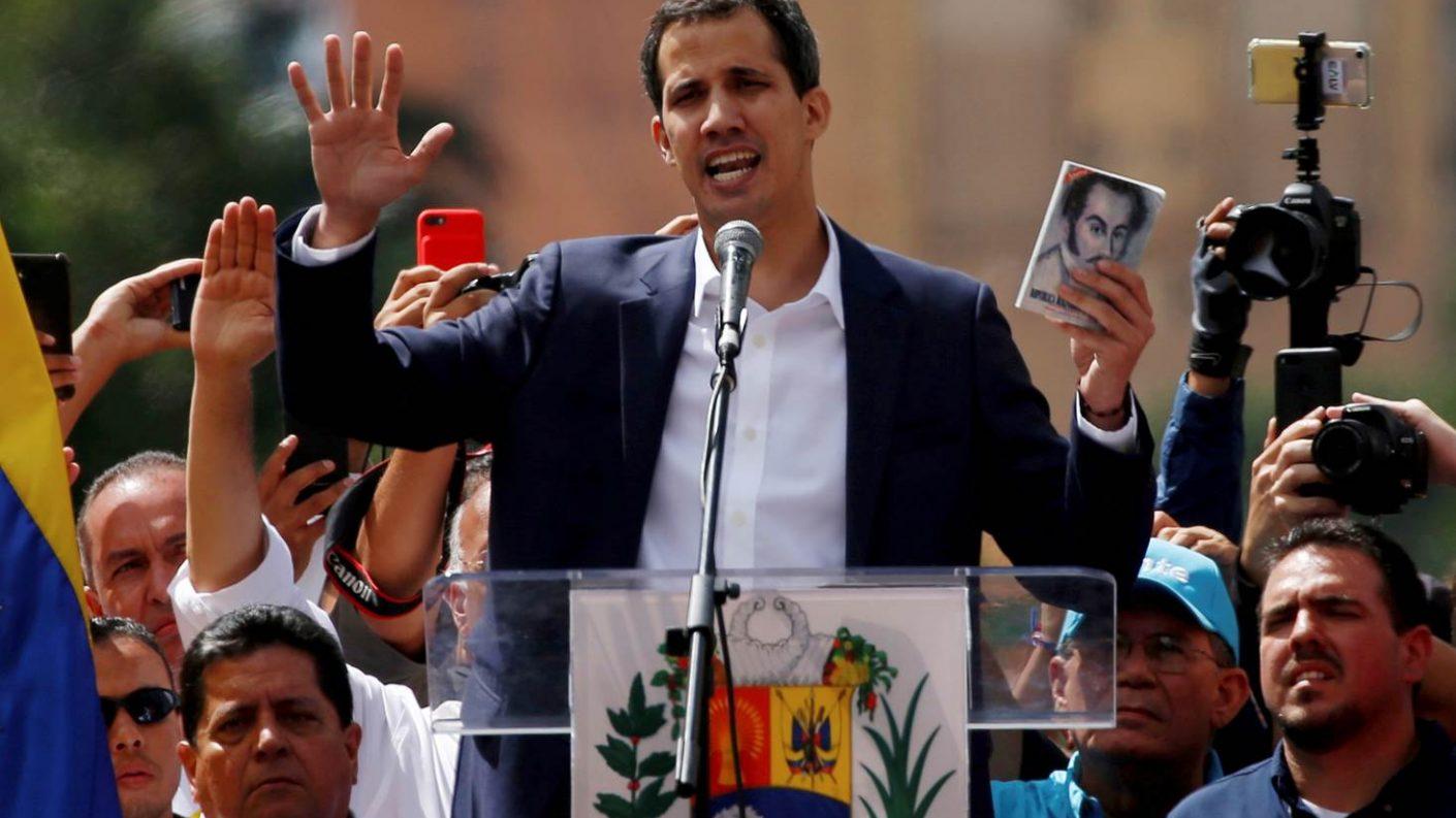 Guaidó fue incluido a última hora como orador en el Foro de Davos