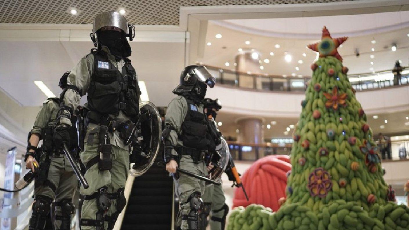 Manifestantes en Hong Kong mantienen protestas: «no importa si es Navidad»