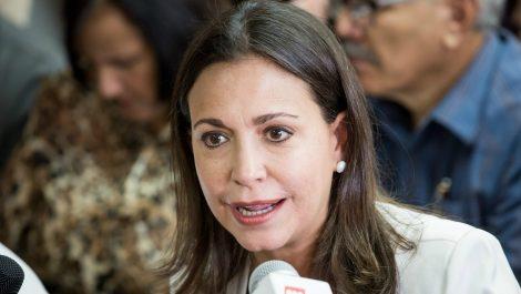 María Corina Machado propone una «operación militar de paz»
