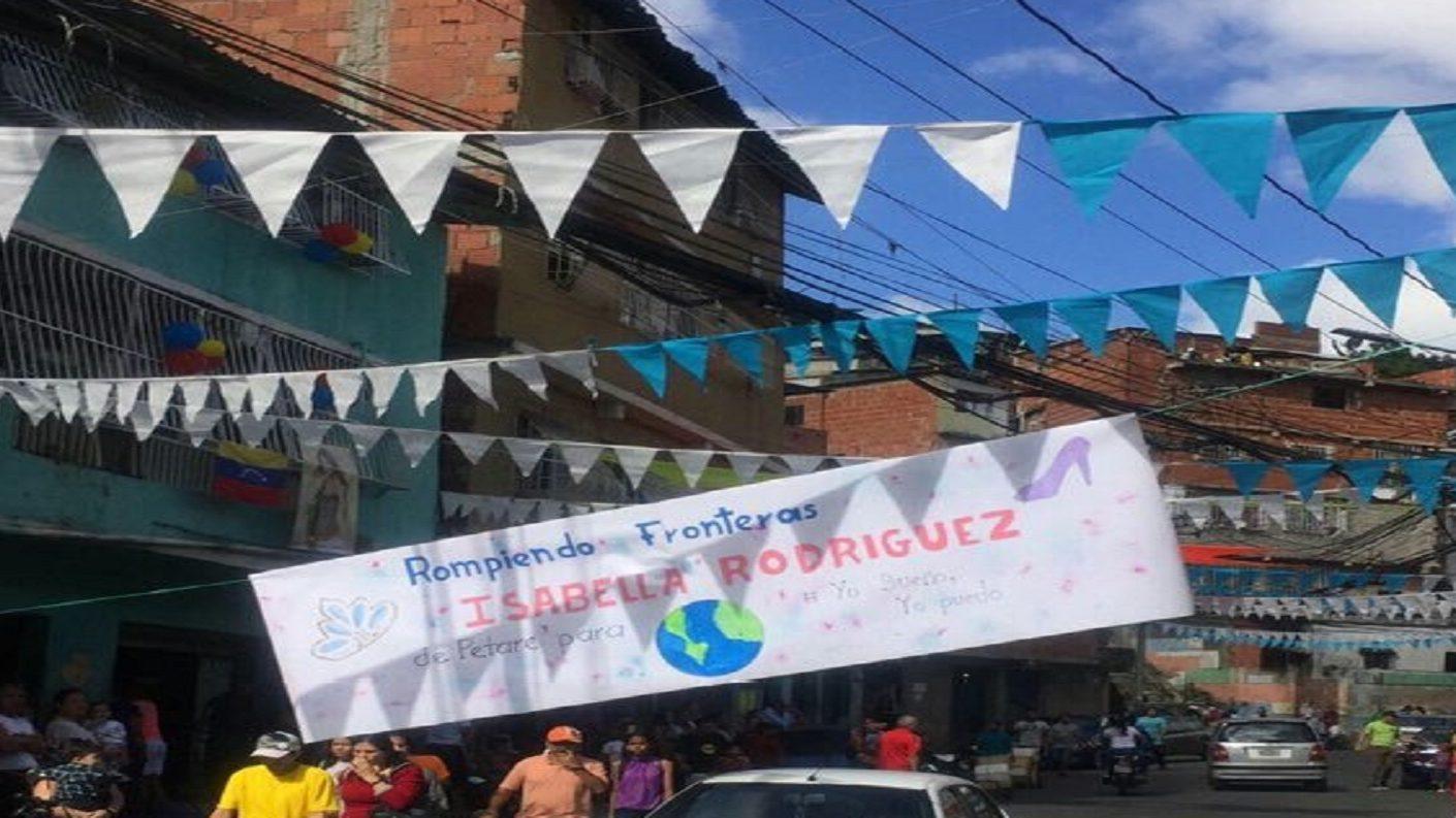 Petare amaneció de fiesta a la espera de que Isabella Rodríguez sea Miss Mundo 2019