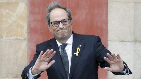 Inhabilitan por año y medio al separatista catalán Quim Torra