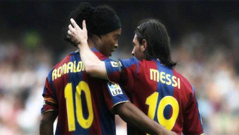"""Ronaldinho: """"Messi no es el mejor de la historia, sí de su época"""""""