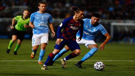 Griezmann salvó al Barcelona del desastre