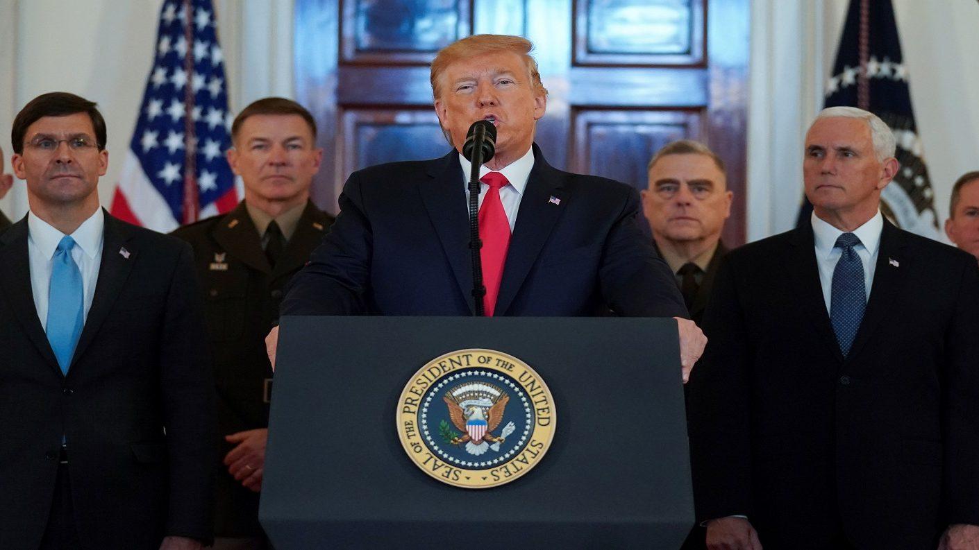 Trump se aparta de ataque militar a Irán y responde con sanciones «poderosas»