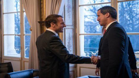 Guaidó se reúne con Macron a puerta cerrada en su recorrido por París