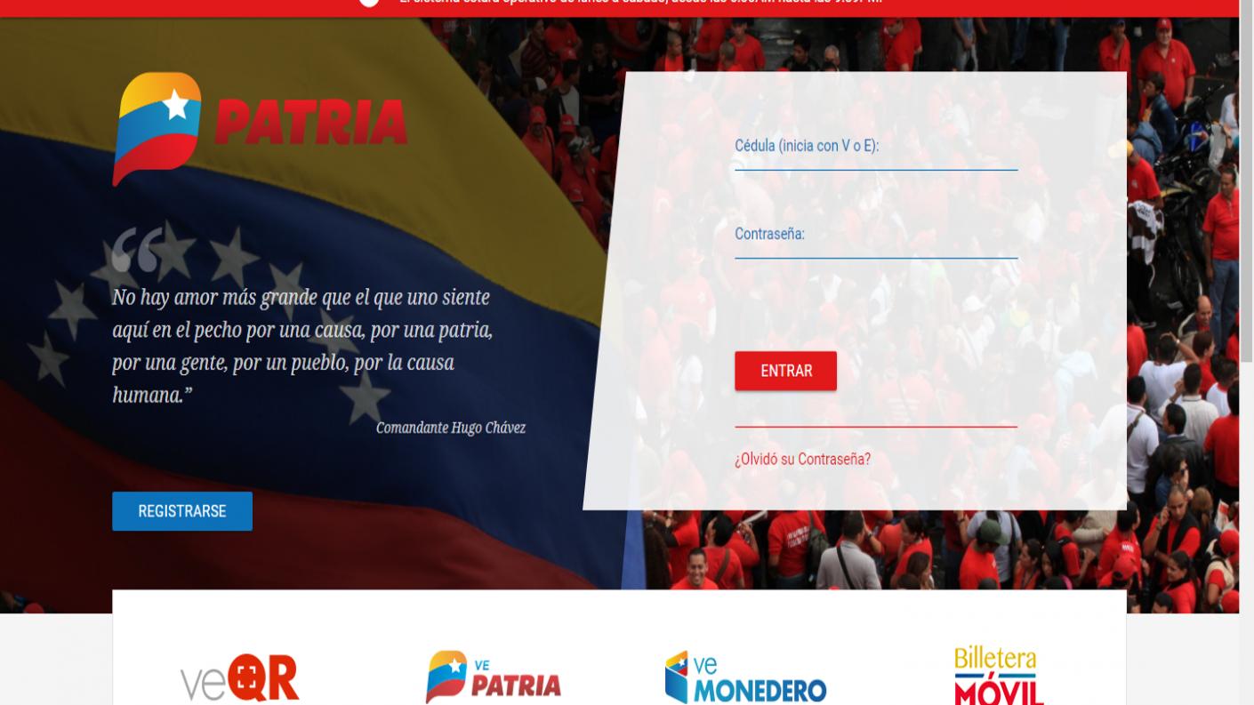 Plataforma Patria ya permite transferir petros y bolívares a terceros