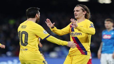 Griezmann permite al Barcelona salir vivo de San Paolo