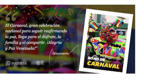 Arrancó entrega de Bono de Carnaval: 10 días para cobrarlo