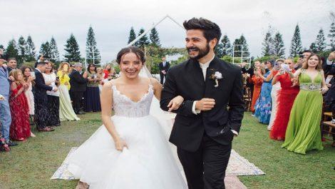 La actriz Evaluna Montaner y el cantante Camilo Echeverry se dieron el sí en Miami