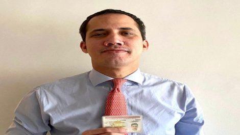 Juan Guaidó recuperó su documento de identidad