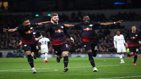 Leipzig pegó primero en los octavos de final