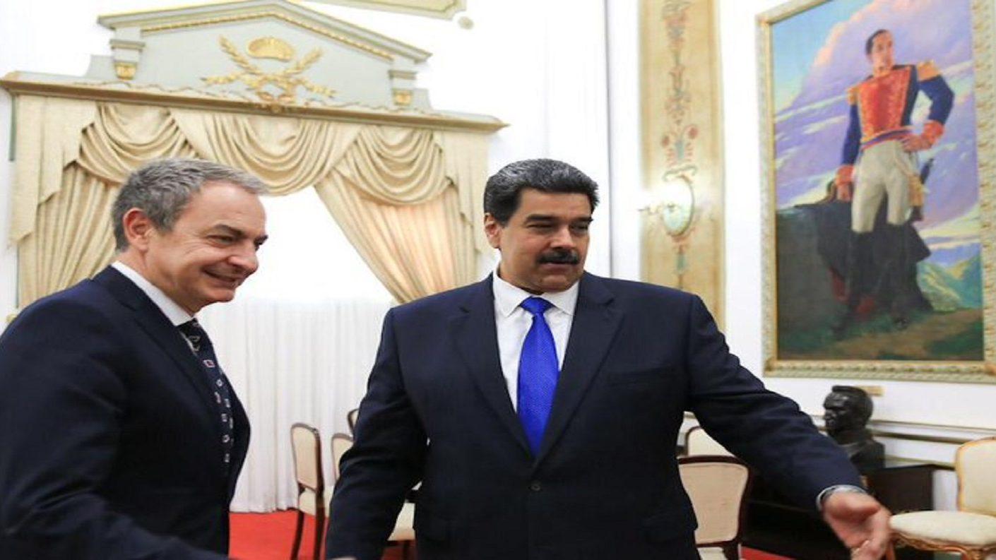 Zapatero se reunió con Maduro en una visita sorpresa