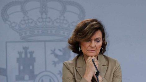 Vicepresidenta de España contagiada de COVID-19